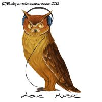 love music owl by busbyart