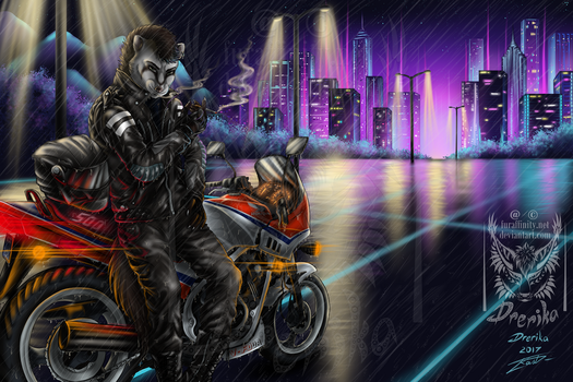 G: In a Synthwave style by Drerika
