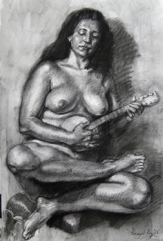 Figure study, charcoal etc, Sep '16 by roy-p