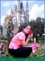 Smelling the Roses at Castle by WDWParksGal