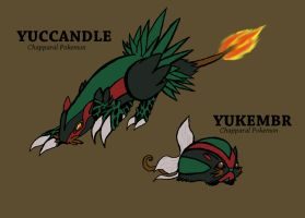 Grass Fire Fakemon by xEvilxPenguinxNinjax
