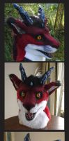 Furry dragon mask by zarathus