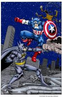 Captain America Vs. Batman by deathrider1551