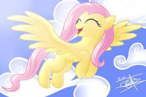 Fluttershy Fly (video speed paint) by AntoPbo
