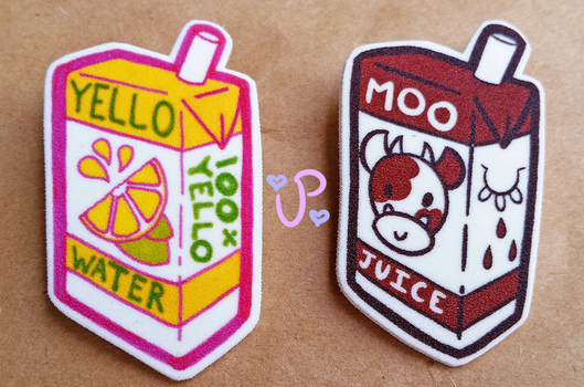 Food Pins and Magnetic Earrings by UltraPancake
