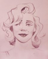 Marilyn Cartooned - Sketch by MarioGasca