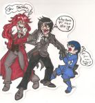 Fighting Over Sebastian - Badge for NDK by FoxyPickles