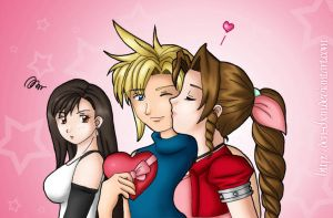 FF7 Love Triangle by CapricornSun83