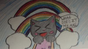 NYAN CAT AND THE DOBBLE RAINBOW WHAT DOES IT MEAN by spikehedgehog99
