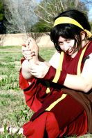 Toph PS: Feet Jealousy by SuperSilkie
