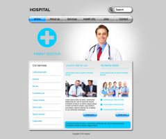 Medical web template by Player-Designer