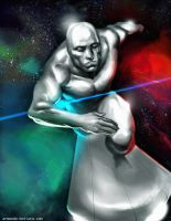 Silver surfer by midknight23