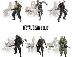 Metal Gear Solid 3 Villains by FirstPriest