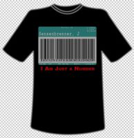 I am just a number - tshirt by mobydisk