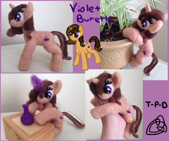 Violet Burette Posable Needle Felt by the-pink-dragon