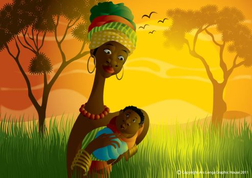 African Mommy by ud120182