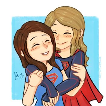 super hug .Supercorp by sexyfairy