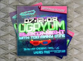 flier for ugryum night by sounddecor