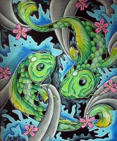 Double green Koi by ecce-one