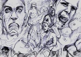 Rammstein Sketch by DerWalzer