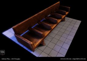 Subway Bench by AutopsySoldier
