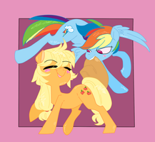 ( MLP ) Apple Horse and Lesbian Poni Collab by KrazyKari