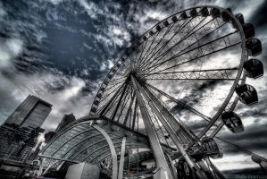 Seattle Ferris Wheel by seancpoi