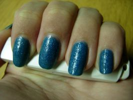 Blue glitter Nails by SarahJacky