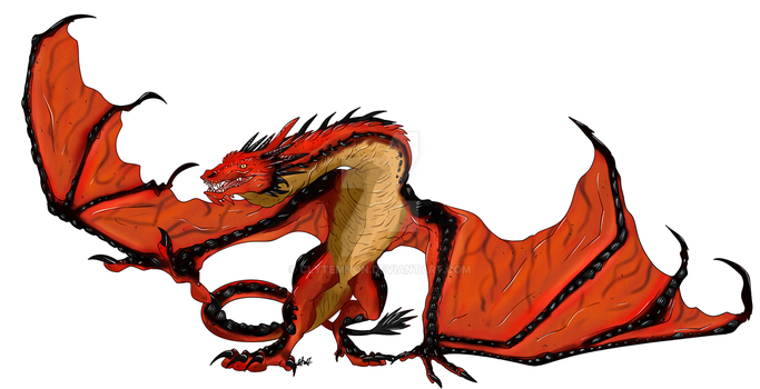 :Dragons: Smaug by Clytemnon