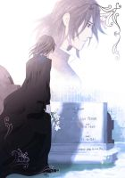 Severus Snape in front of the grave of the Potters by Wasserspiegel