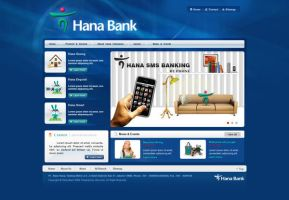 Hana Bank Site by whatnameisit