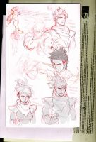 Preliminary sketches by Kandoken