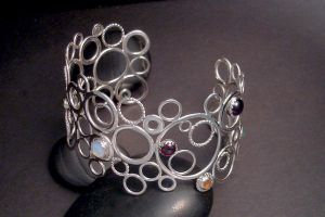 circle cuff bracelet by tinkerSue