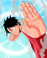 Luffy gear 2 by darkogoku