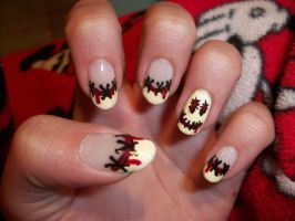 Smiley Nails by QueenAliceOfAwesome