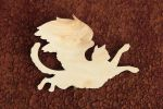 Cat wood silhouette by hontor