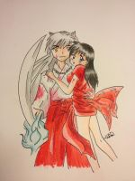 InuYasha and Kagome by EliWaran