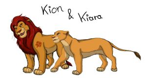 Lion Guard - Kion and Kiara by MissPadfoot-88