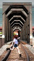 down by the train tracks by electric-lady