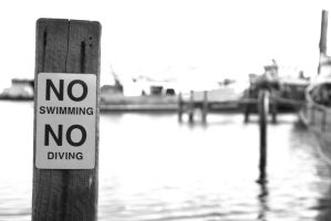 No Swimming by Auzins
