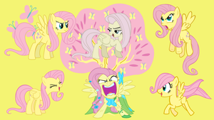 the many faces of fluttershy by neodarkwing