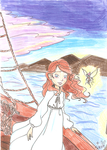 Ashley and Firawyn on the boat by gelfnig