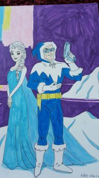 Captain Cold and Elsa by Vultureclaw