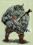 Rocksteady from Teenage Mutant Ninja Turtles by Gazbot