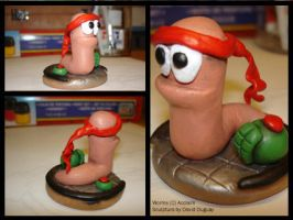Worms Sculpture by MrTrain