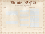 Dilute-RPG Registration Certificate by AniaJag