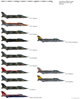 Royal Air Force Jaguar Squadrons by darthpandanl