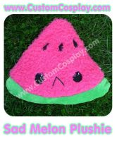 Sad watermelon slice plushie by The-Cute-Storm