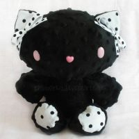 Black PatterKitty Plush by ChibiWorks