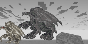 Stone Dragon Pixel Art by DragonDePlatino